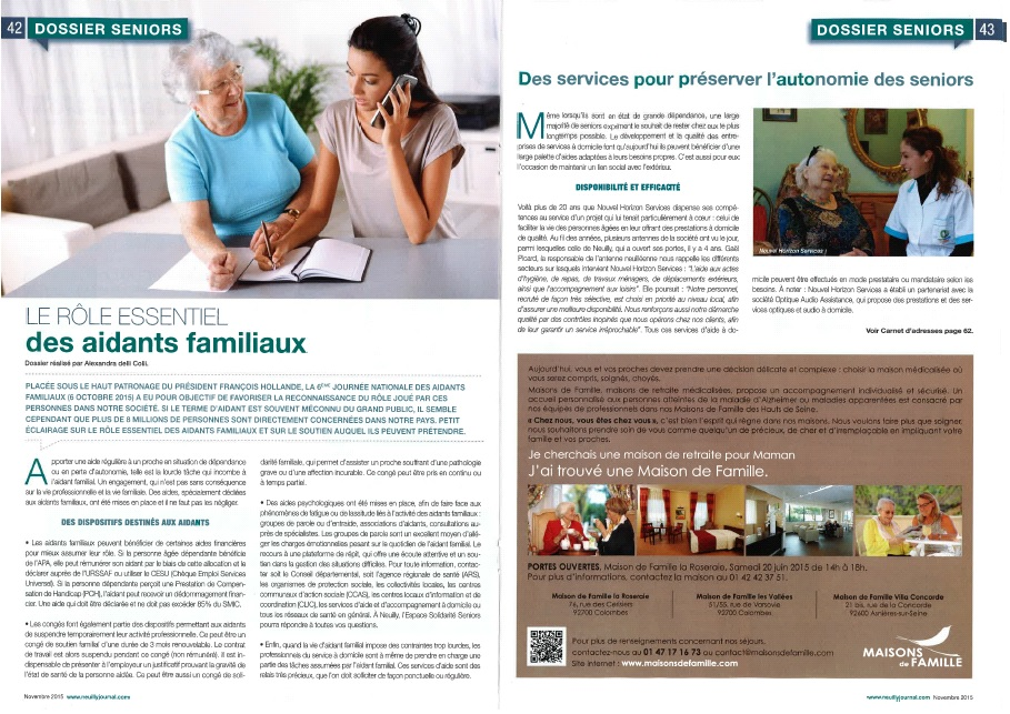 Neuilly journal page 1
