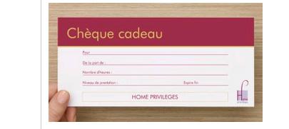 chèques cadeaux Home Privilèges